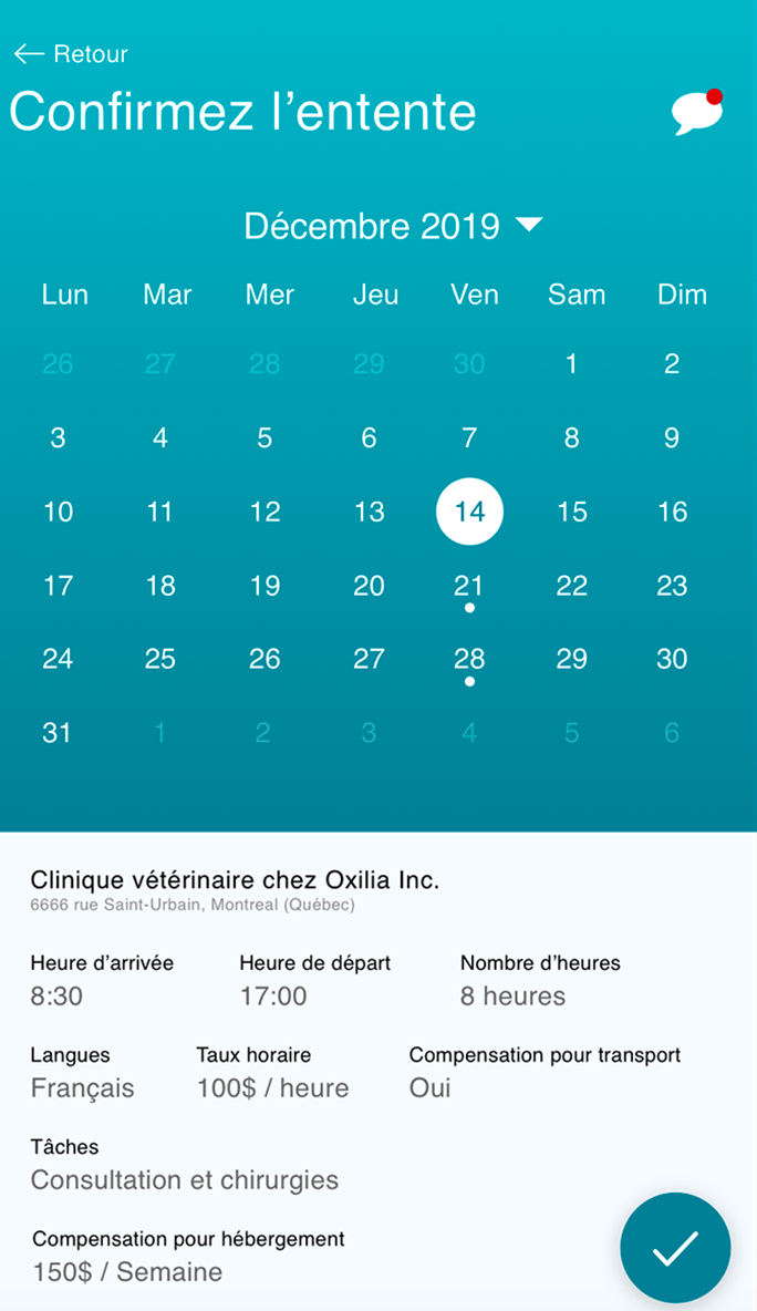 Application mobile Oxilia